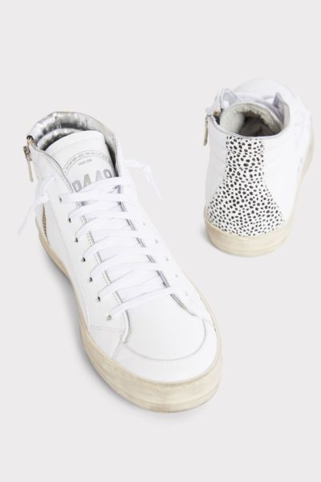 P448 Leopard Dot High Top Sneaker