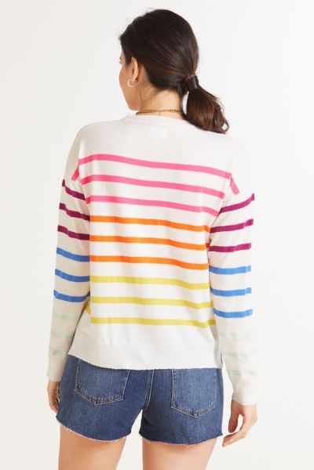 Sundry Multi Stripe Pullover