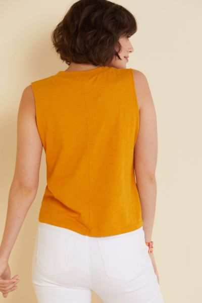 Lna Split Neck Pocket Tank