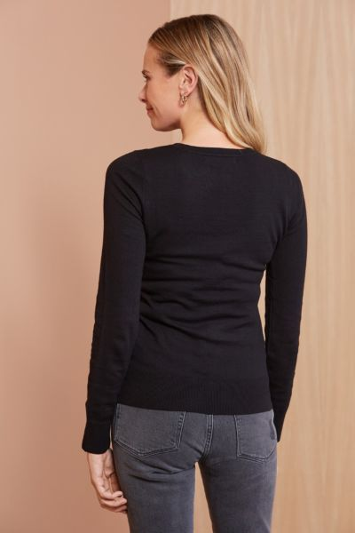 Stitches and stripes Cut Out Pullover