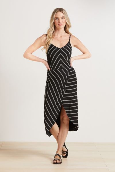 Peyton jensen Aidy Stripe V Neck Dress