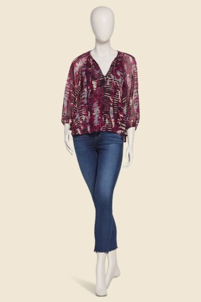 Allison joy Brentmoore Tie Neck Chiffon Blouse