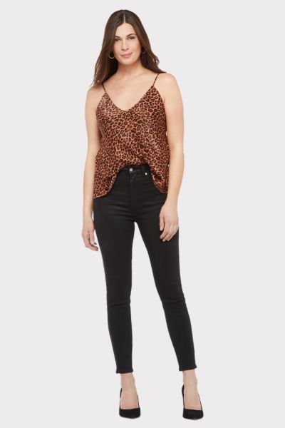 Allison joy Faye Leopard Satin Cami