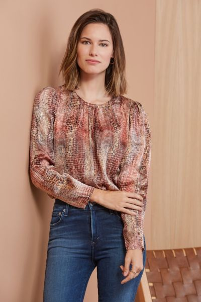 Allison joy Vivienne V Back Blouse