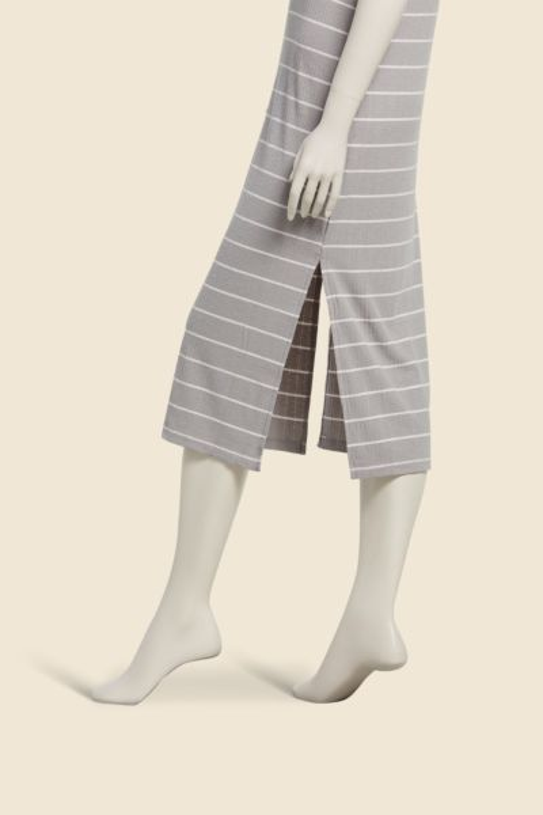 Z supply Seri Stripe Rib Tank Dress