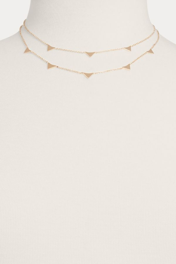 Thirty-nine 42 Triangle Double Strand Necklace