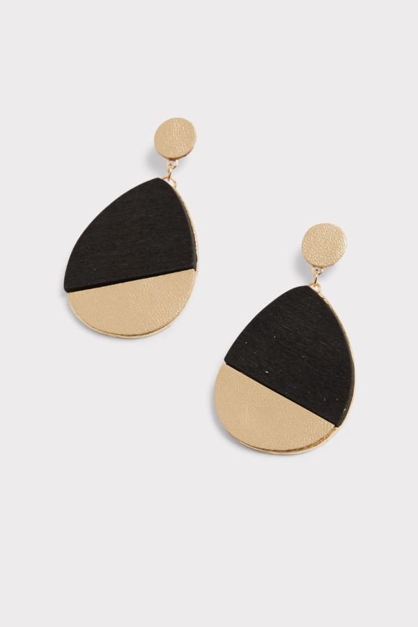 Thirty-nine 42 Spencer Wood and Leather Earrings