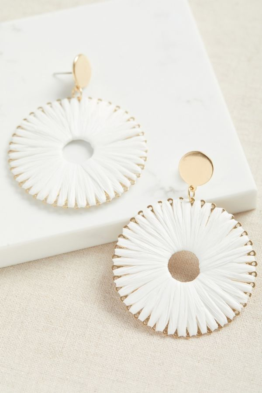Thirty-nine 42 Tegan Woven Circle Statement Earrings