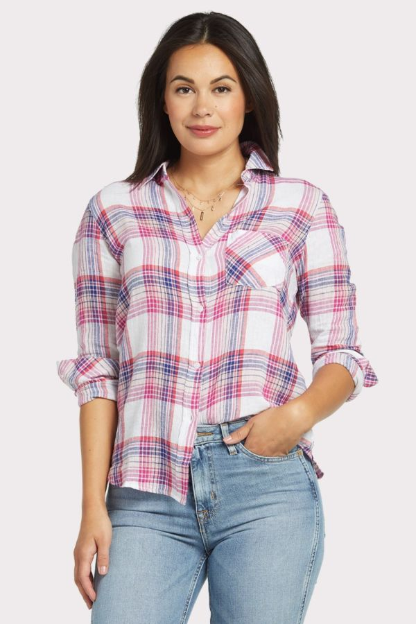 Rails Fuschia Charli Button Down
