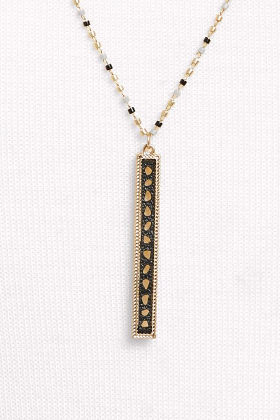 Thirty-nine 42 Wren Leather Bar Pendant Necklace
