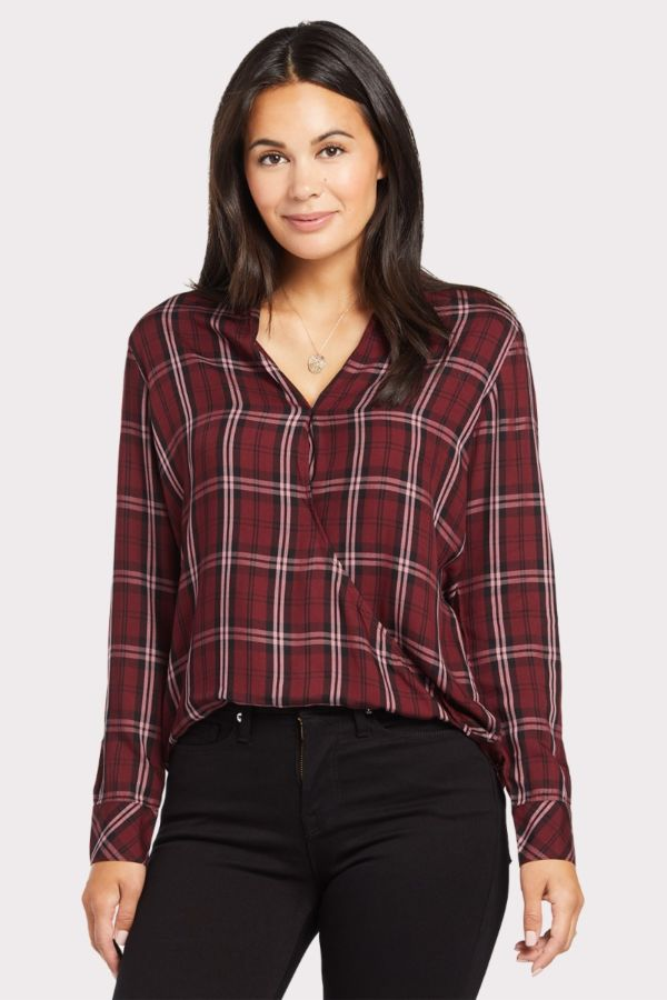 Cloth and stone Drape Front Shirt