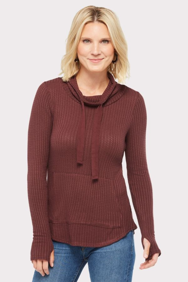 Chaser Thermal Shirttail Cowl Tunic