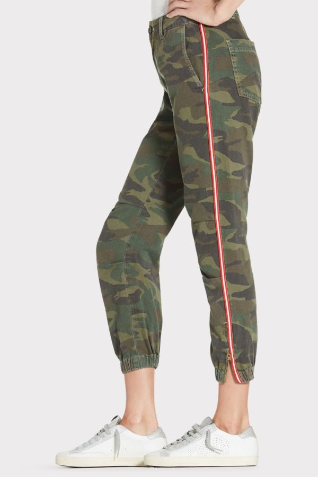 Sundry Camo Zip Side Stripe Jogger