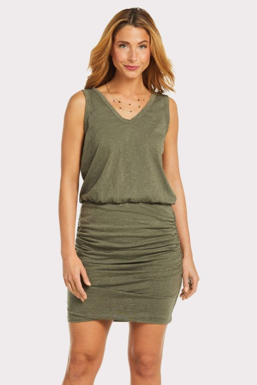 Sundry Sleeveless Scrunch Dress