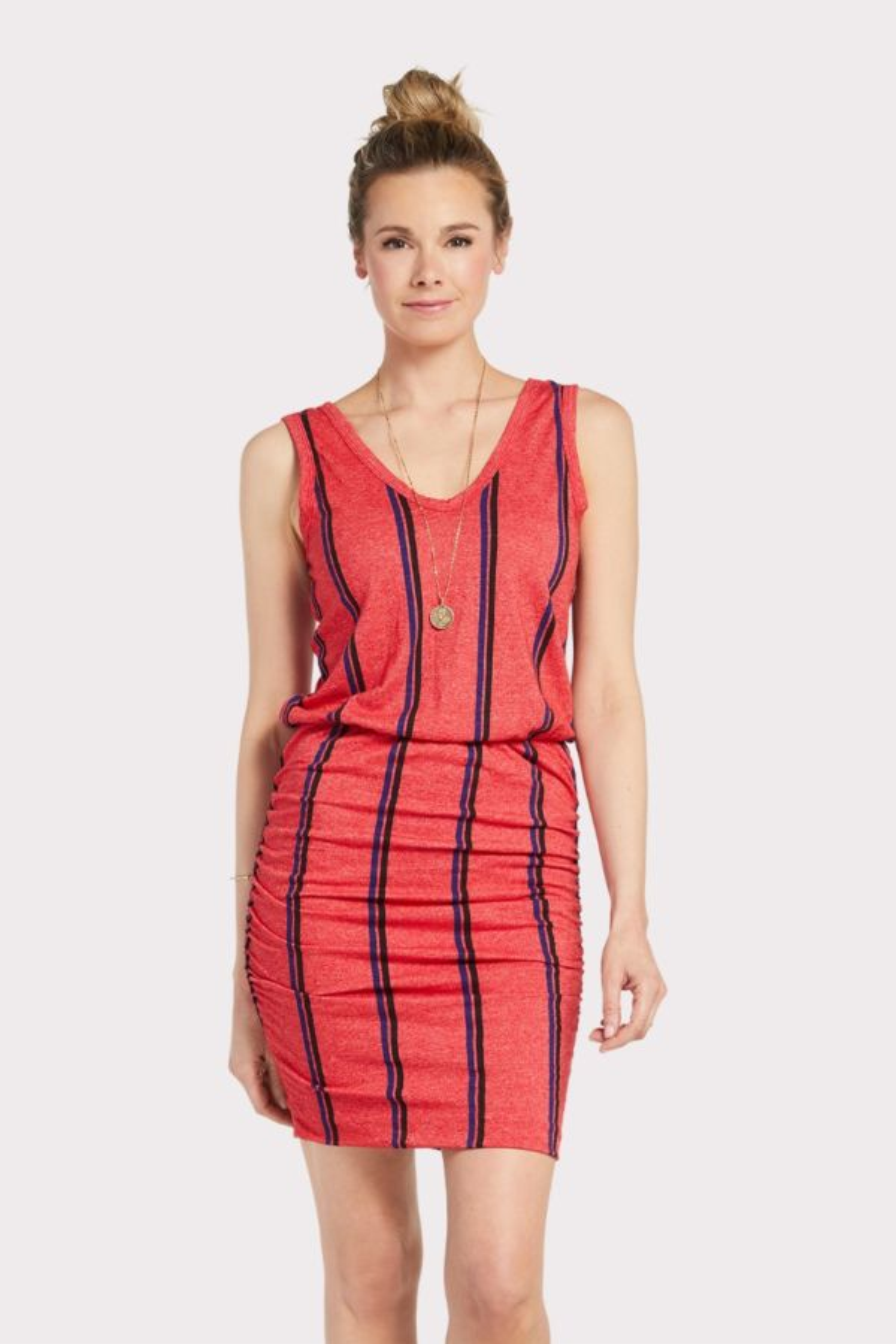Sundry Stripe Scrunch Dress
