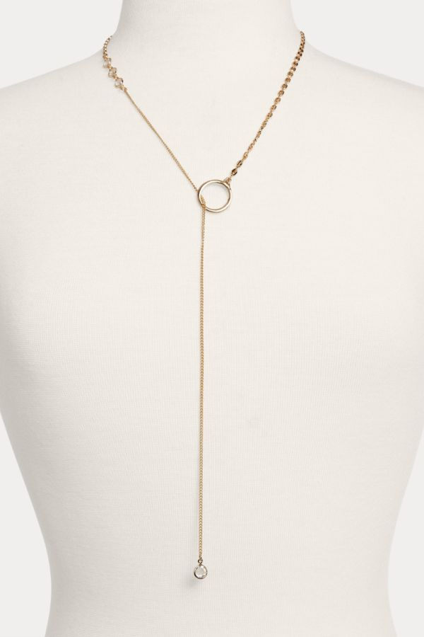Thirty-nine 42 Hartley Chain Mixed Lariat Necklace