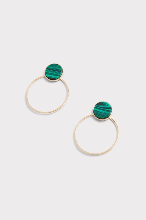 Thirty-nine 42 Emily Stone Circle Earrings