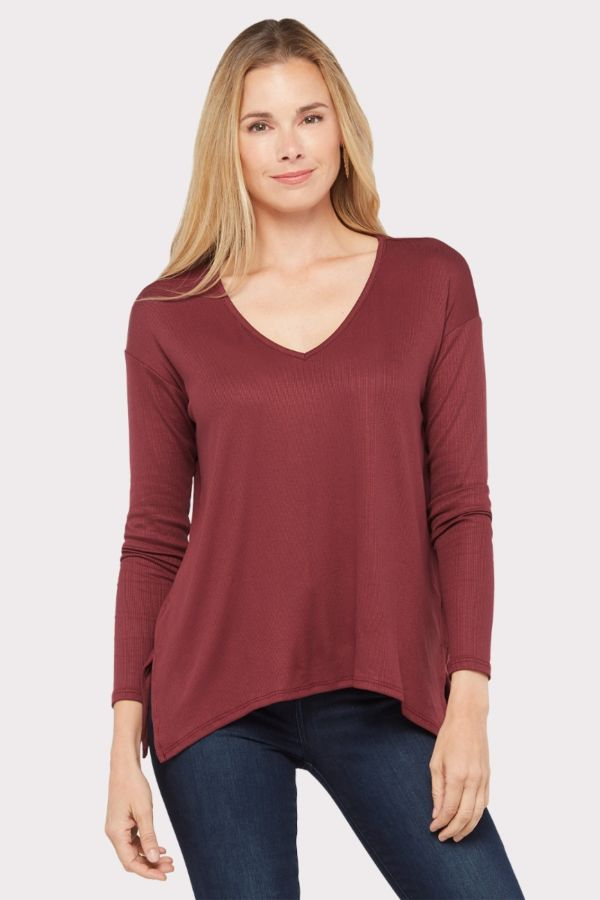 Michael stars V Neck Rib Tunic