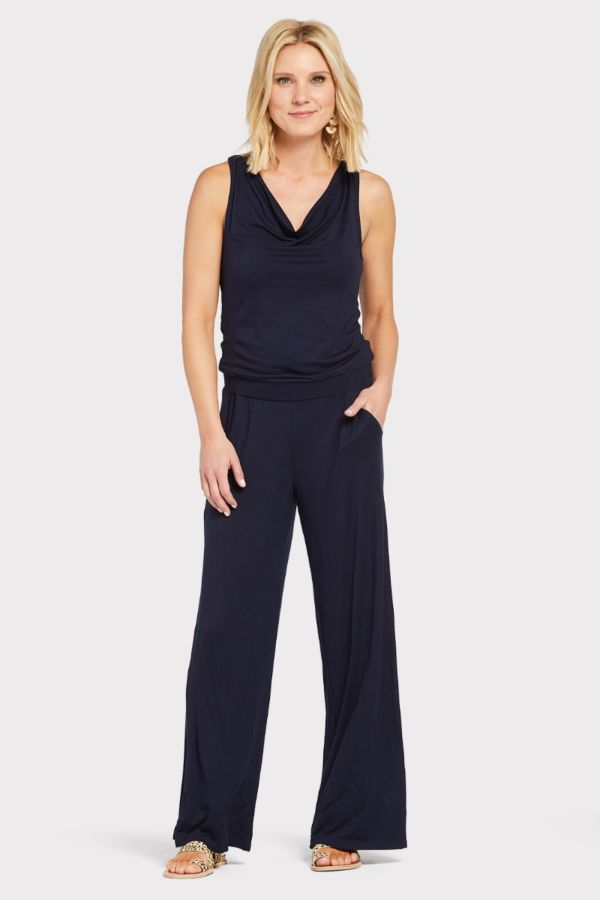 Michael stars Drape Neck Jumpsuit