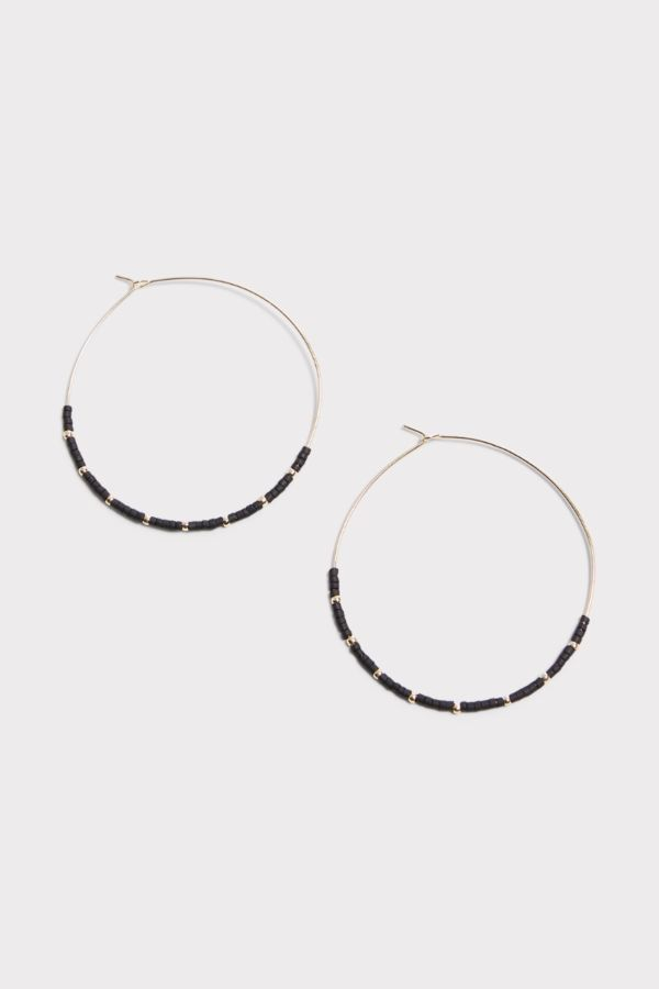 Thirty-nine 42 Jimmy Beaded Hoop Earrings