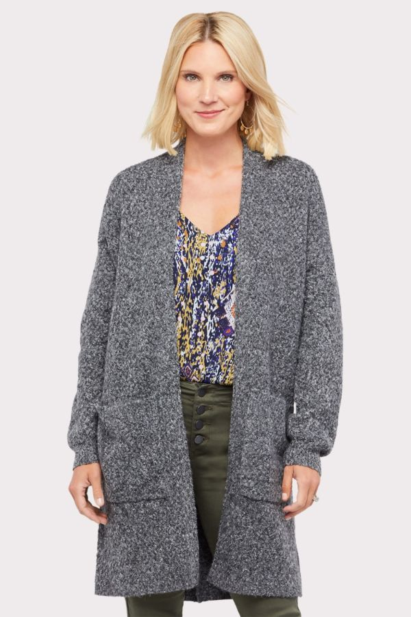 John and jenn Gloria Basket Weave Cardigan