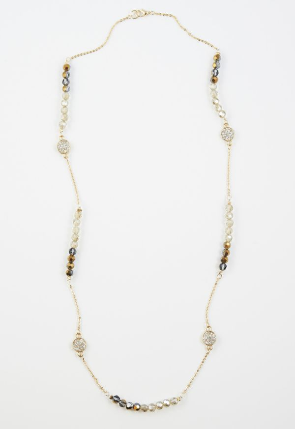 Excelsior Bead Chain and Crystal Necklace