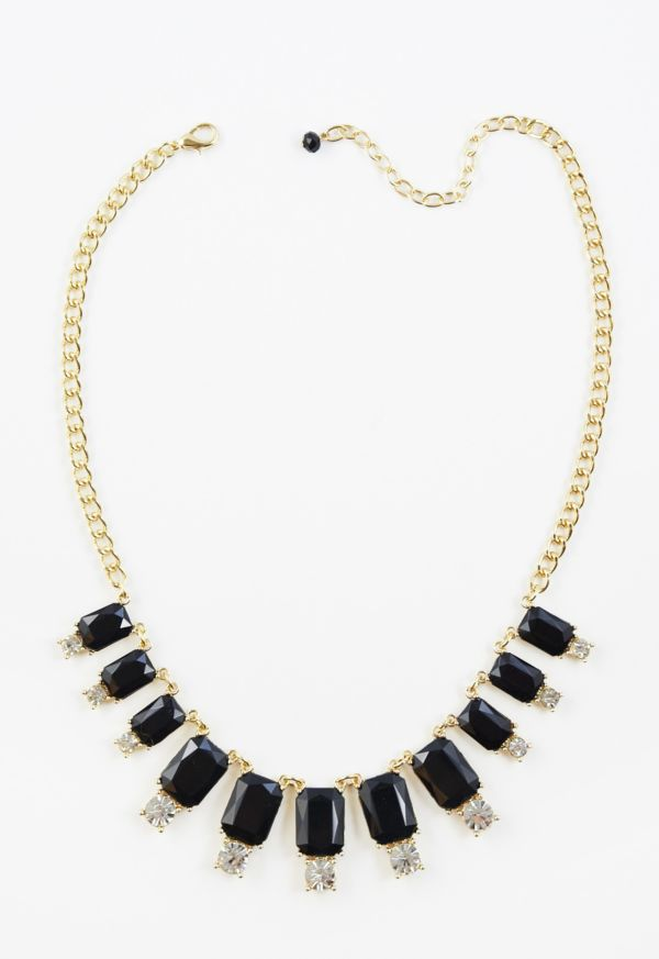 Harriet isles Black and Rhinestone Necklace