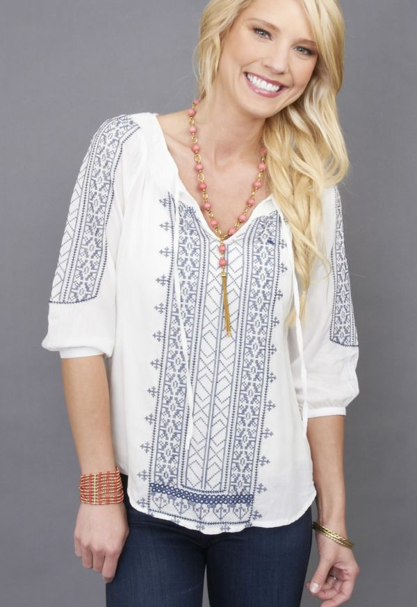 Unit Embroidered Peasant Blouse
