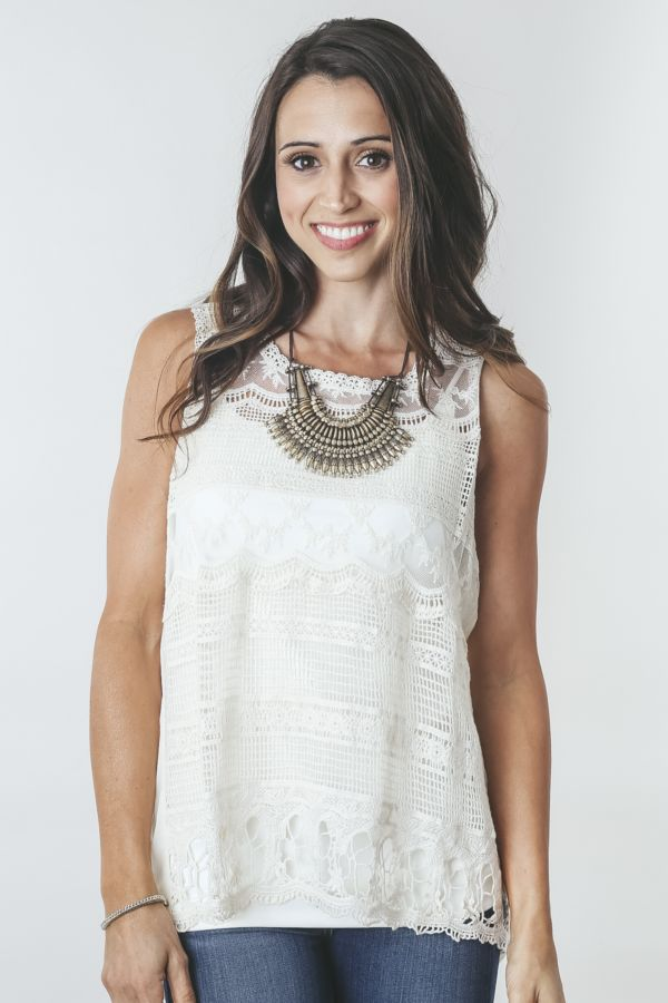 Unit Lace Crochet Tank