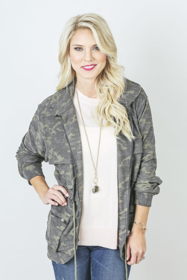 Under skies French Terry Camo Jacket