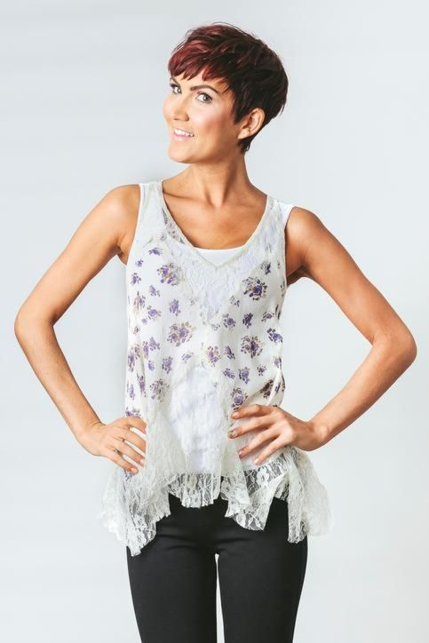 Free people Full Blossom Trapeze Cami