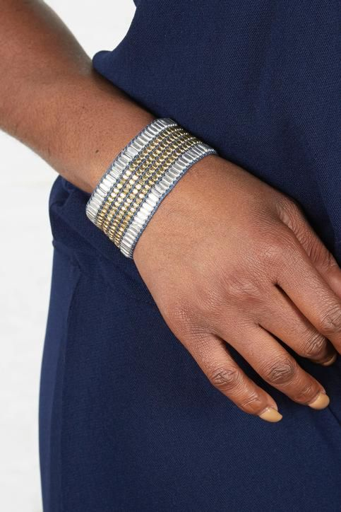 Mia berkeley Metallic Beaded Bracelet