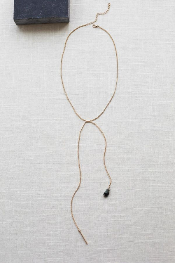 Excelsior Stone and Point Lariat Necklace
