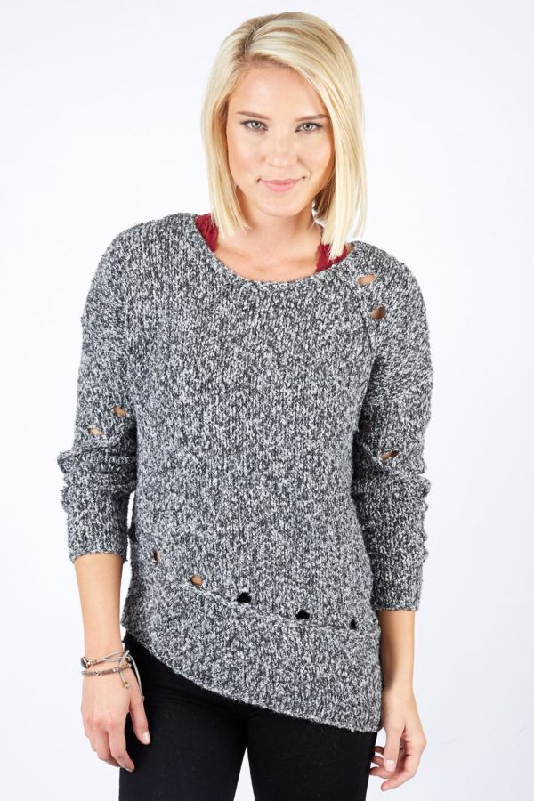 Allison joy Asymmetric Cozy Yarn Sweater
