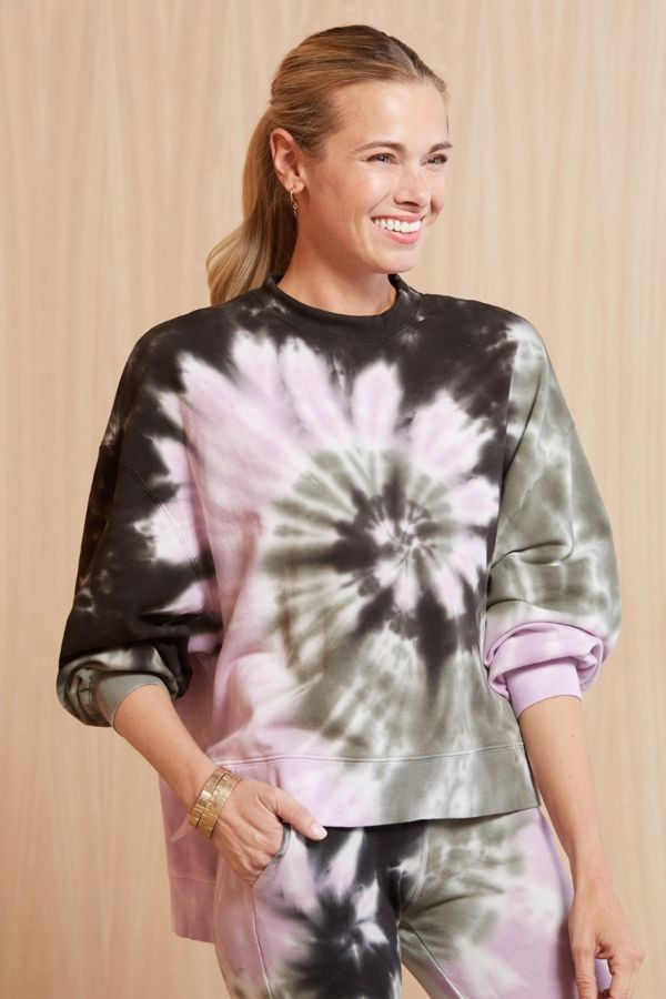 Electric  and rose Neil Wave Wash Sweatshirt