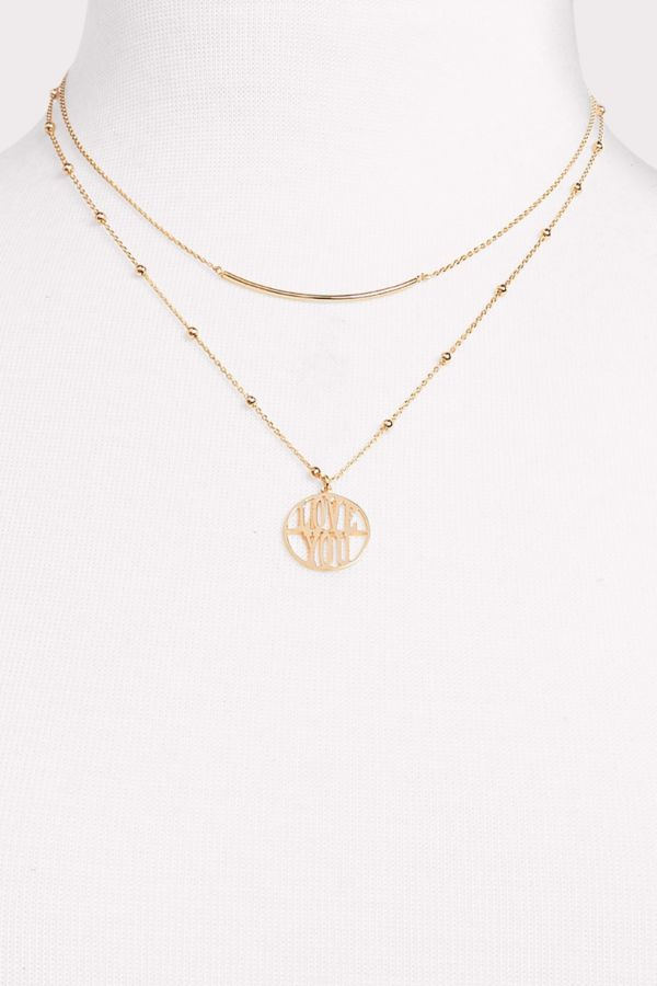 Thirty-nine 42 Love You Double Strand Necklace
