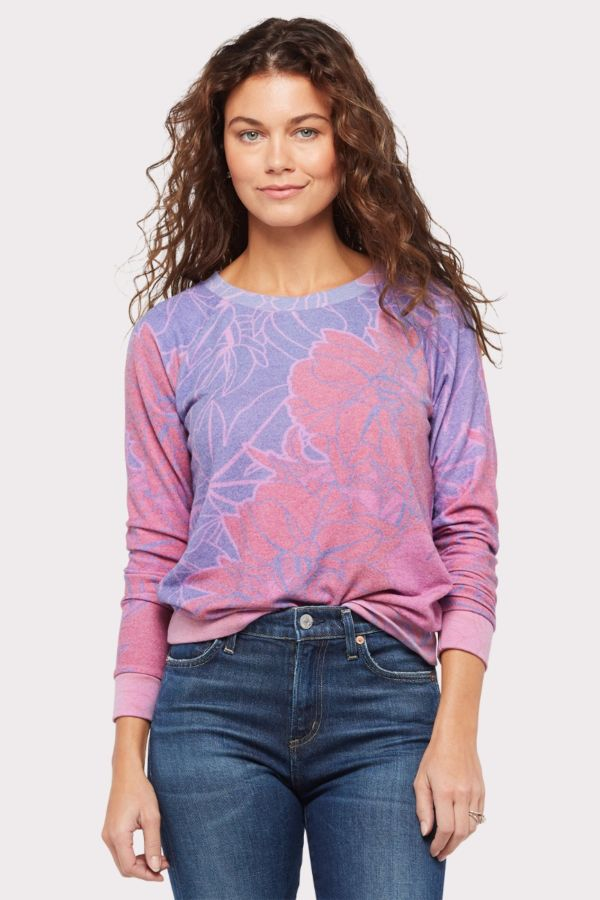 Sol angeles Graphic Floral Sweatshirt