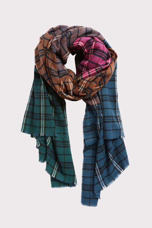 Harriet isles Dylan Ombre Plaid Scarf