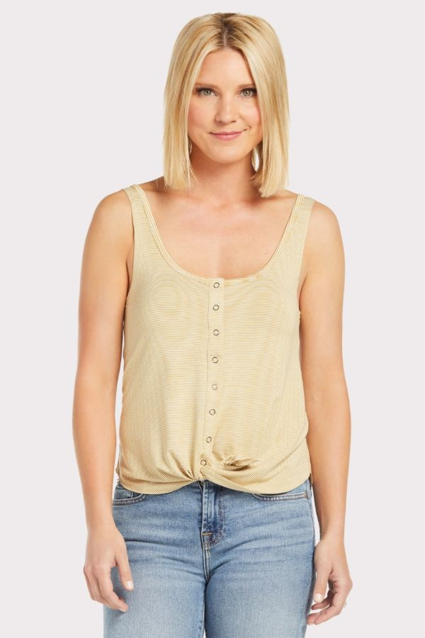 Anama Snap Front Tie Tank