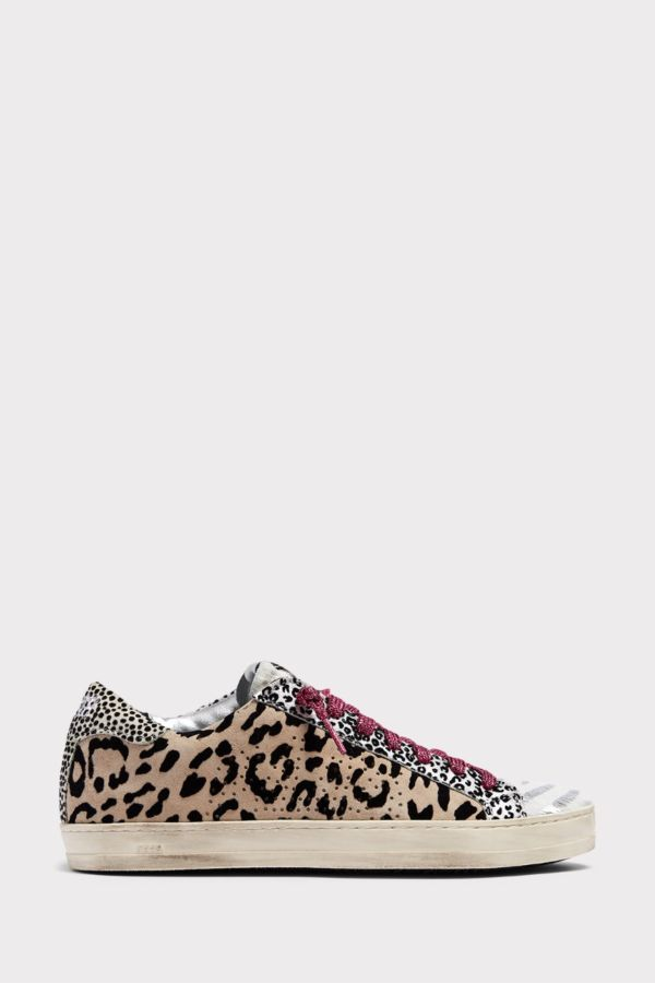 P448 Leopard Sneaker with Pink Laces