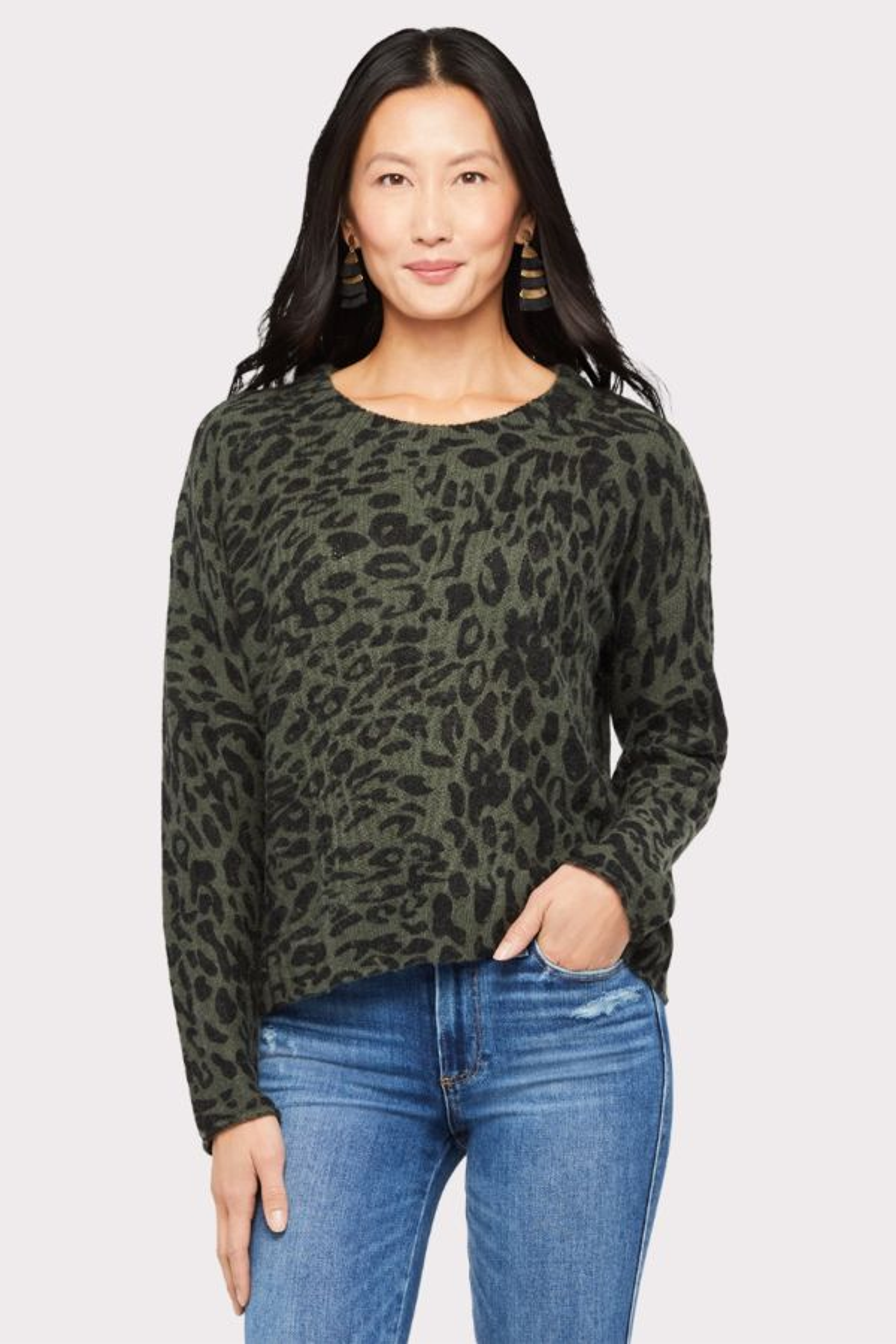 Rails Leopard Pullover