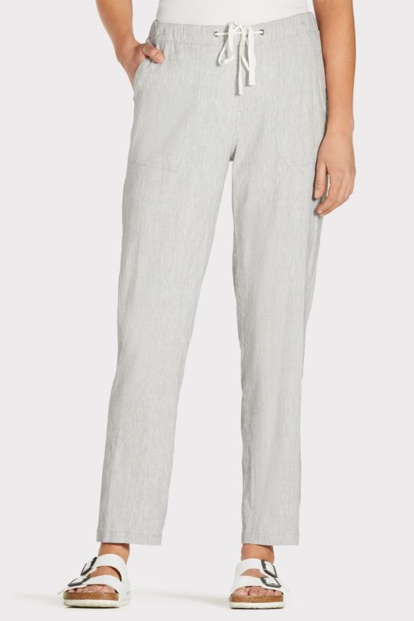 Willow and clay Isla Drawstring Linen Trouser