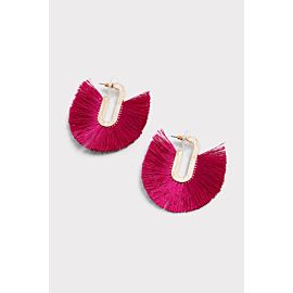 Jonah Fringe Hoop Earrings