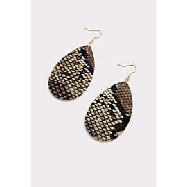 Ryan Snake Tear Drop Earrings
