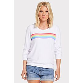 Rainbow Cut Out Pullover