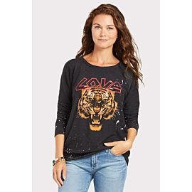 Love Cat Graphic Pullover