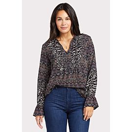 Jemma Print Mix Top