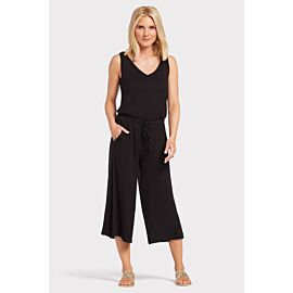 Double V Cropped Jumpsuit