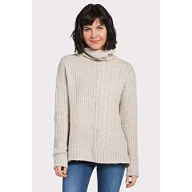 Phoebe Cabled Turtleneck Sweater