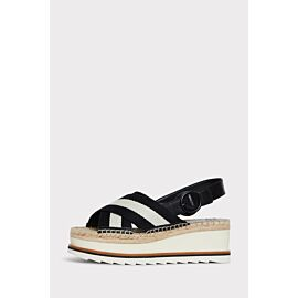 Glenna Striped Wedge Sandal